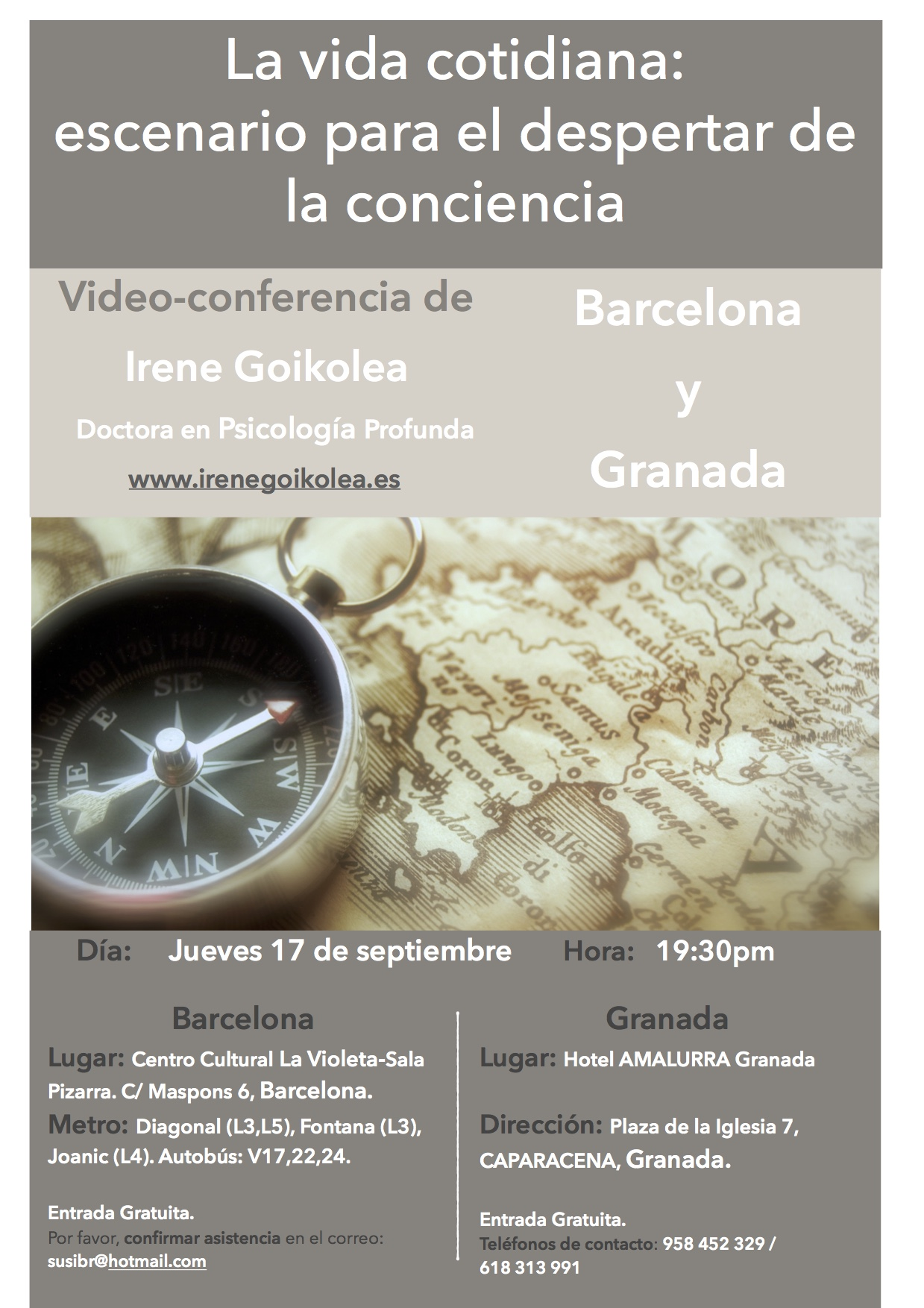 Cartel de la video-conferencia