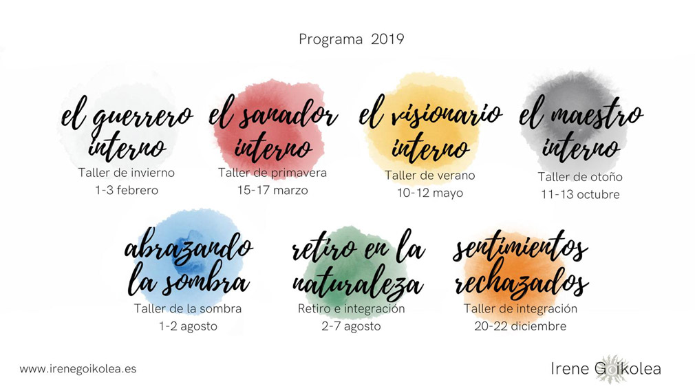 Workshops included in the Anual Program 2019